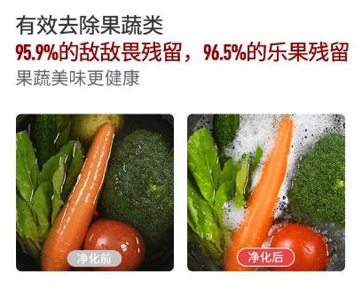 果蔬祛除农残率